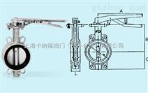 台湾荣牌不锈钢手柄蝶阀