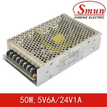 Smun/西盟D-50B双组输出开关电源50w5v、24v