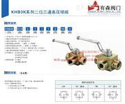 KHB3K-G3/8_内螺纹液压高压三通球阀