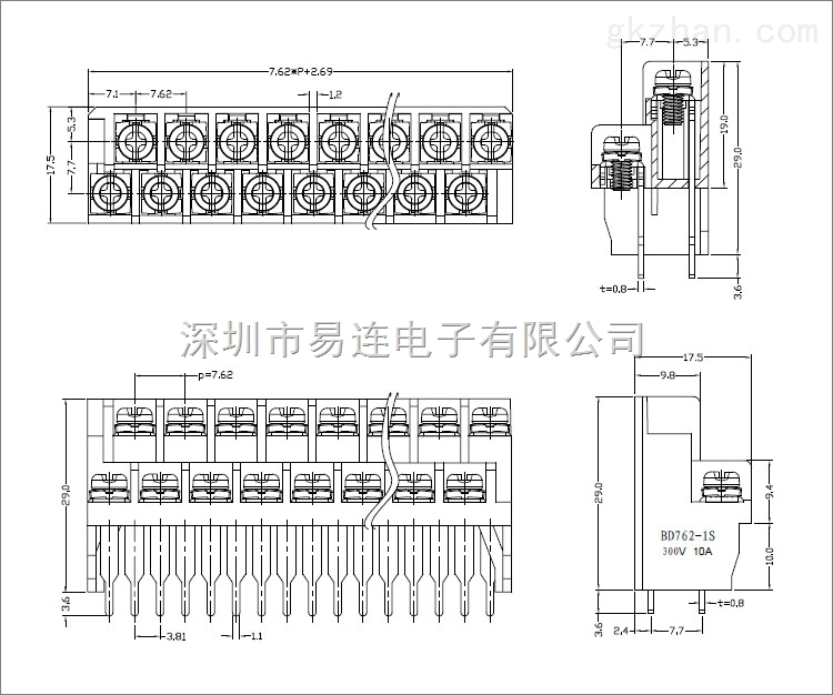 产品库 电气设备/工业电器 配电箱 接线端子 762 三菱plc接线端子