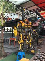 变形金刚大黄蜂擎天柱摆件汽车人定制租赁灯光语言迎宾机器人厂家