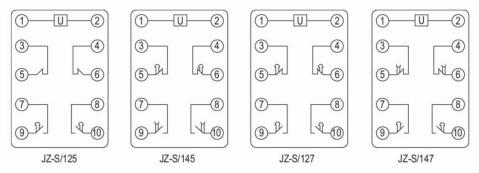 延时型中间继电器,通电瞬间电容储能,继电器通过数字电路根据用户设定