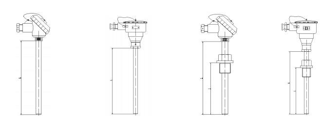 防水式热电阻温度传感器