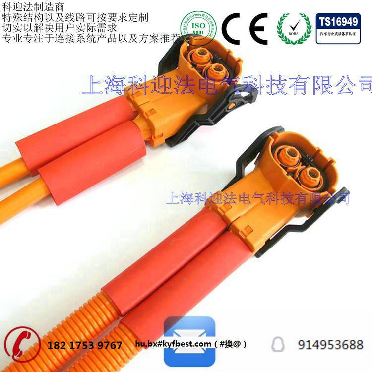 5方屏蔽线缆 三芯带高压互锁,接2.5方屏蔽线缆 两芯带高压互锁,接2.